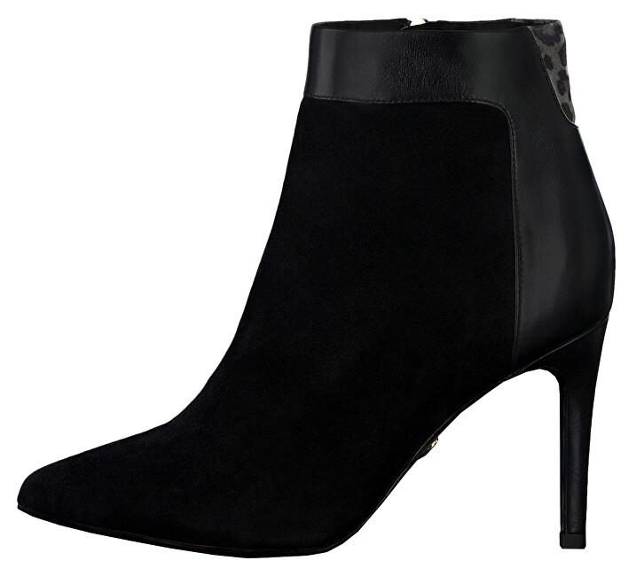 Tamaris Dámské kotníkové boty 1-1-25305-23-031 Blk/Leop.Comb 41