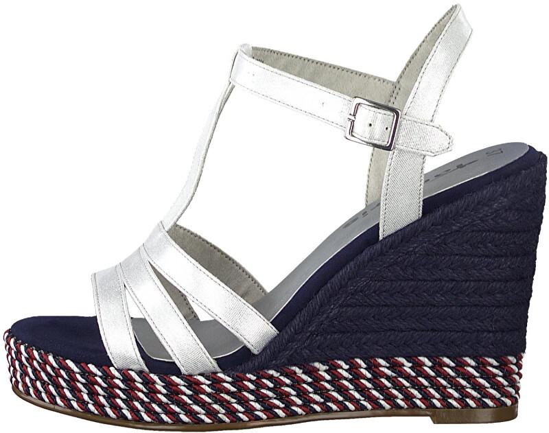 Tamaris Dámske sandále 1-1-28372-24-127 Wht Met.Comb 41