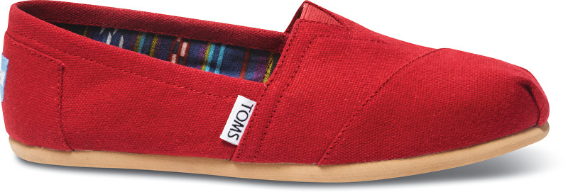 Dámske Slip-On Red Canvas Core Class ic s Alpargata s