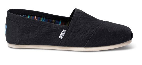 Dámske Slip-On Black Canvas Core Class ic s Alpargata