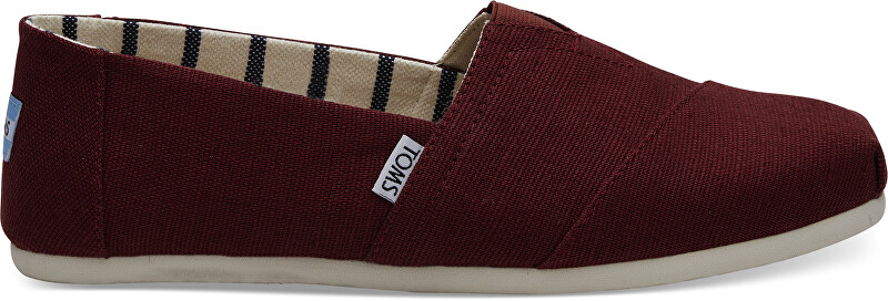 TOMS Pánské Slip-On Black Cherry Heritage Canvas Alpargata 42