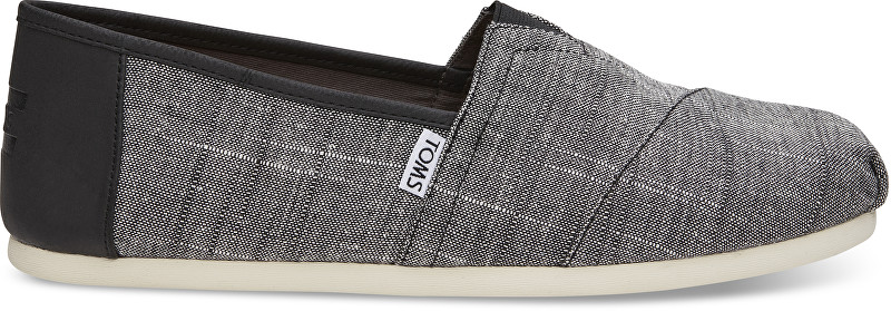 TOMS Pánské Slip-On Black Textured Chambray/Trim Alpargata 42