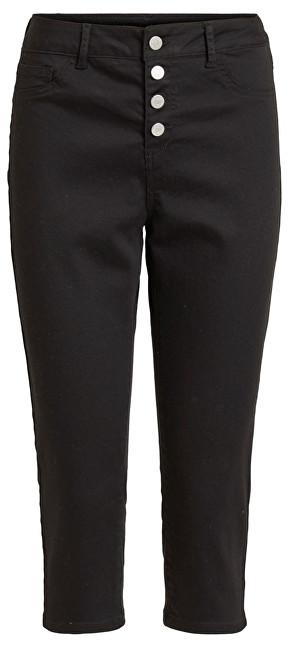 Vila Dámske nohavice Commit Rw Capri P0017 Buttons/2 Black L