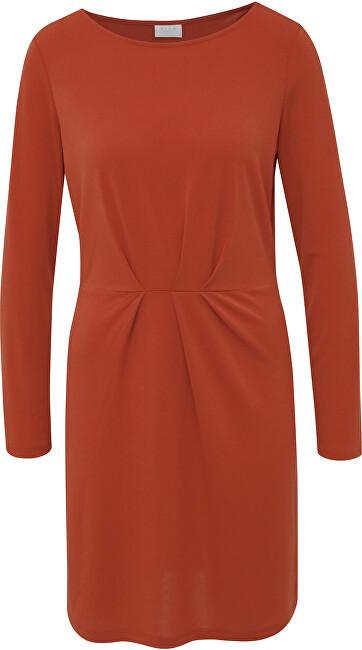 Vila Dámske šaty VICLASSY L/S DETAIL DRESS - FAV Ketchup XS