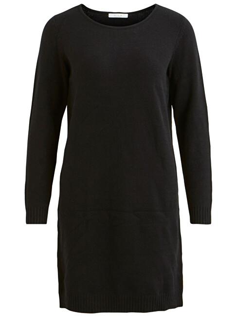 Vila Dámske šaty VIRIL L / S KNIT DRESS - Noosa Black XS