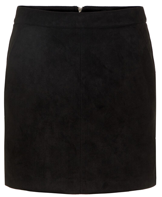 Vero Moda Dámská sukně VMDONNADINA FAUX SUEDE SHORT SKIRT NOOS Black M Vero Moda