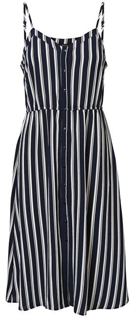 Vero Moda Dámske šaty Sasha Singlet Dress Noos Navy Blazer Snow White Coco XS