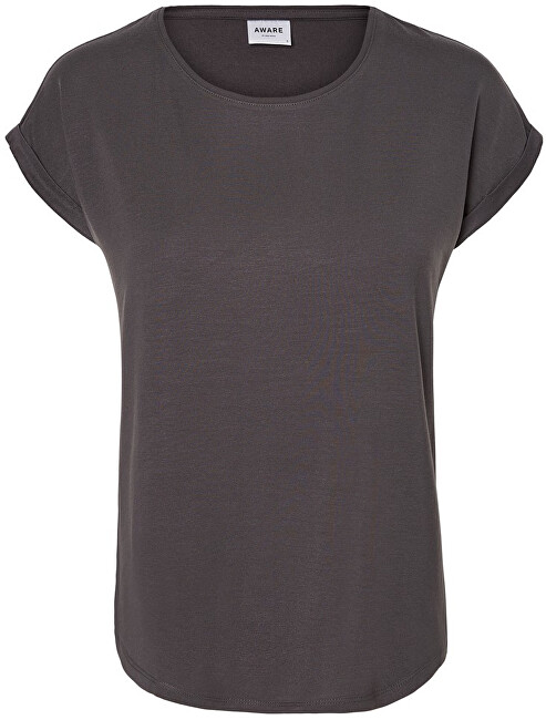 Vero Moda Dámske tričko VMAVA PLAIN SS TOP GA Noosa Asphalt XL