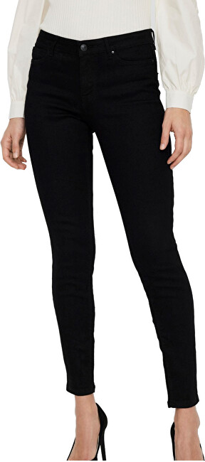 Vero Moda Dámske džínsy VMJUDY Skinny Fit 10237624 Black XS/30