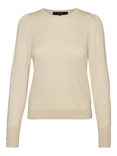 Vero Moda Dámsky sveter VMSILKE Slim Fit 10240004 Birch XS