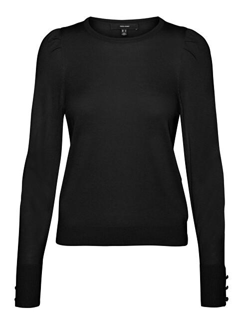 Vero Moda Dámsky sveter VMSILKE Slim Fit 10240004 Black XS