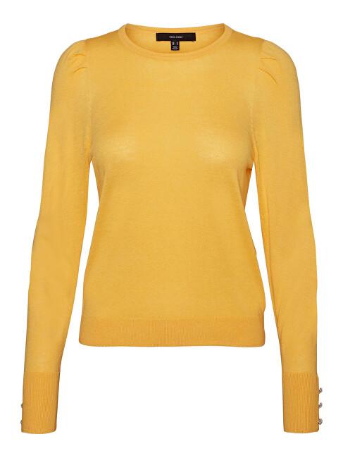 Vero Moda Dámsky sveter VMSILKE Slim Fit 10240004 Cornsilk XS