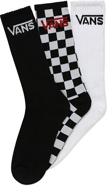 VANS 3 PACK - ponožky CLASSIC CREW Black/Checkerboard 38,5-42