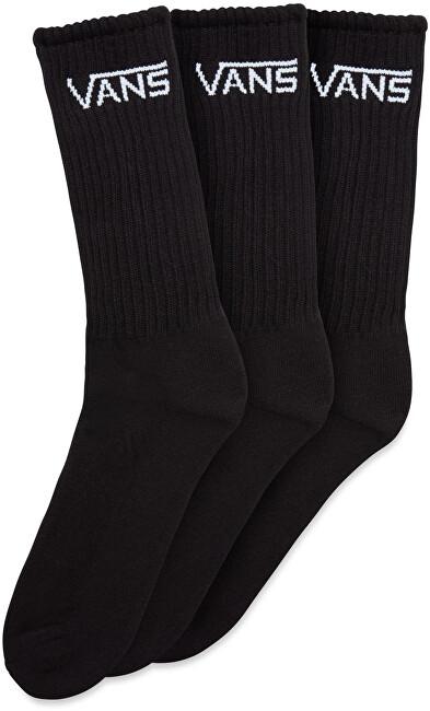 VANS 3 PACK - ponožky CLASSIC CREW Black 38,5-42