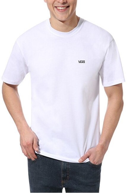 VANS Pánske tričko MN Left Chest Logo T White / Black VN0A3CZEYB21 XL