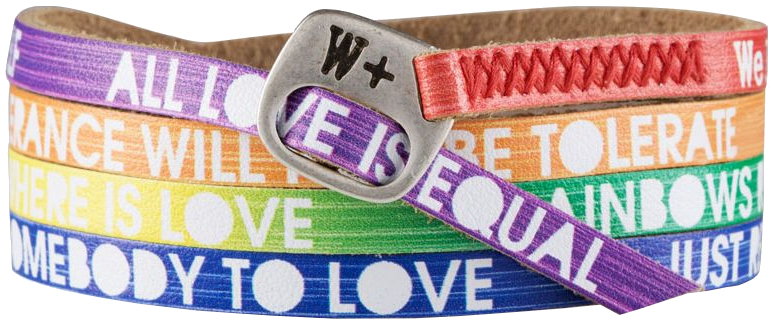 We Positive Barevný wrap náramek LL001 Love Rainbow Color