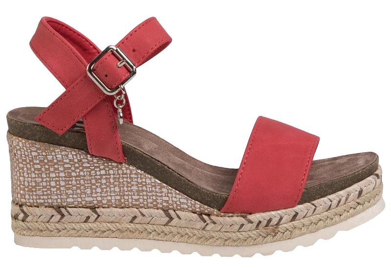 XTi Dámske sandále Red Nobuko Pu Ladies Sandals 34242 Red 39