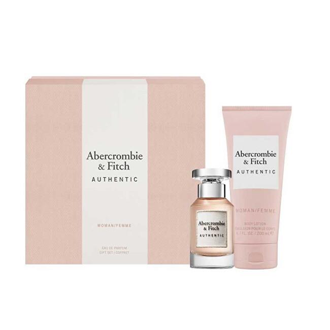 Abercrombie & Fitch Authentic Woman - EDP 50 ml + telové mlieko 200 ml