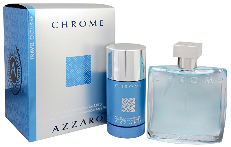 Azzaro Chrome - EDT 100 ml + tuhý dezodorant 75 ml