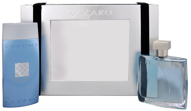 Azzaro Chrome - EDT 100 ml + sprchový gél 200 ml