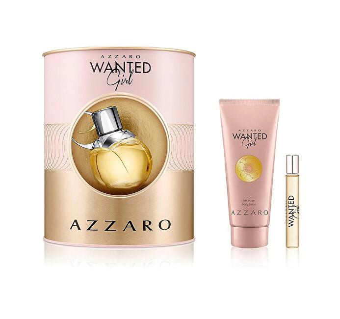 Azzaro Wanted Girl - EDP 80 ml + tělový krém 100 ml + EDP 7,5 ml