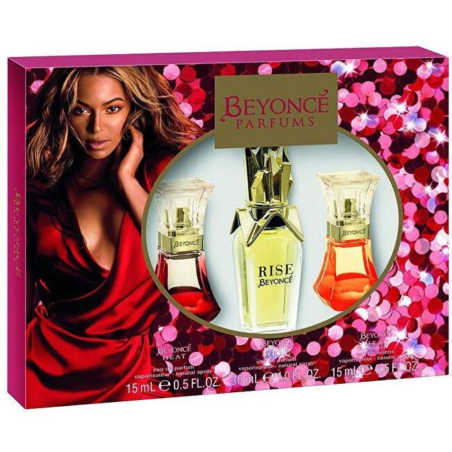 Beyonce Rise pre ženy EDP 30 ml + EDP Heat 15 ml + EDP Heat Rush 15 ml darčeková sada