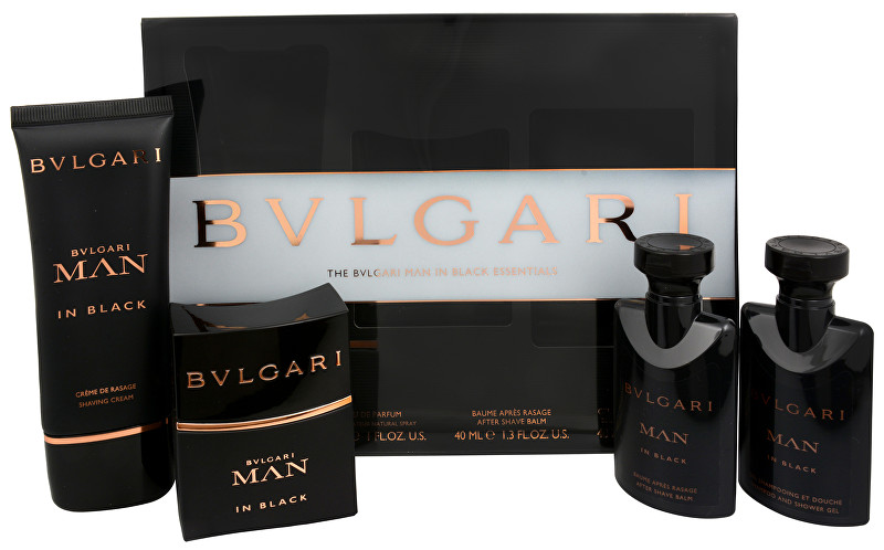 Bvlgari Man In Black - EDP 30 ml + krém na holení 50 ml + balzám po holení 40 ml + sprchový gel 40 ml