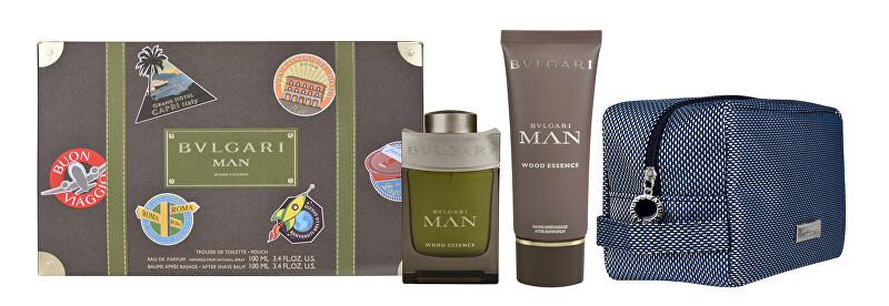 Bvlgari Man Wood Essence - EDP 100 ml + balzám po holení 100 ml + kosmetická taštička