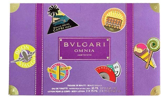 Bvlgari Omnia Amethyste - EDT 65 ml + 2 x tělové mléko 75 ml + kosmetická taštička