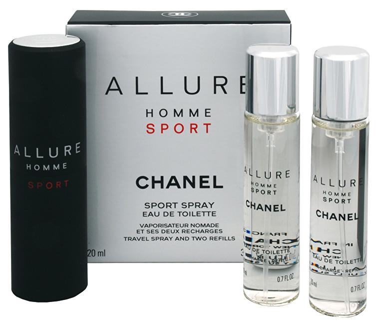 Chanel Allure Homme Sport - EDT 20 ml (plnitelný flakon) + náplň (2 x 20 ml) 60 ml