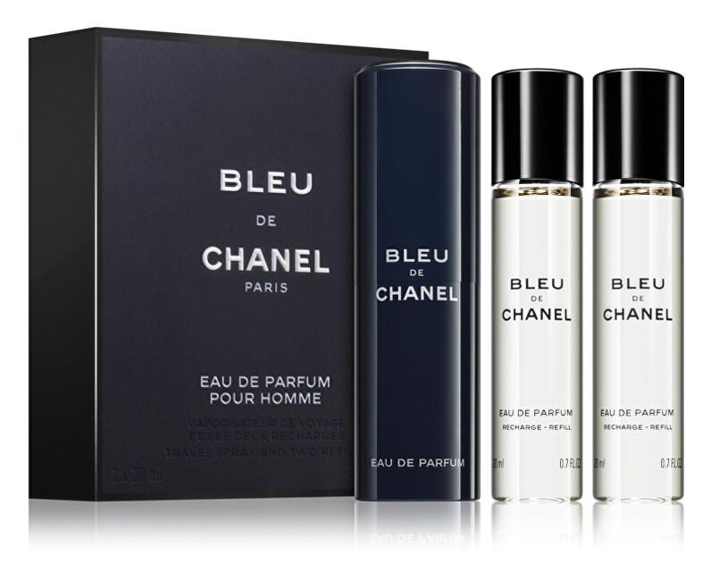 Chanel Bleu De Chanel – EDP 20 ml (plniteľný flakón) + náplň 2 x 20 ml