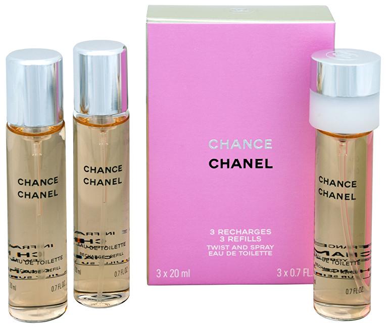 Chanel Chance toaletná voda dámska 3x20 ml