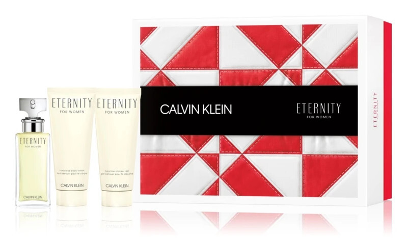 Calvin Klein Eternity - EDP 50 ml + telové mlieko 100 ml + sprchový gél 100 ml