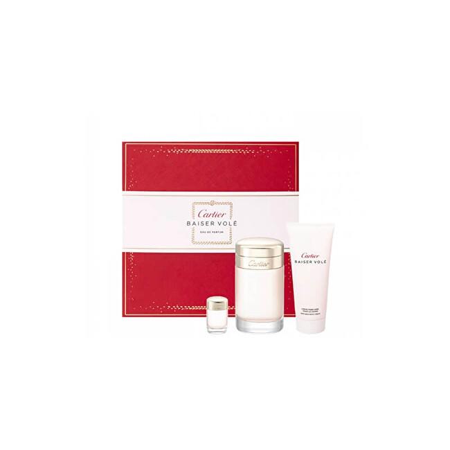 Cartier Baiser Volé - EDP 100 ml + tělový krém 100 ml + EDP 6 ml