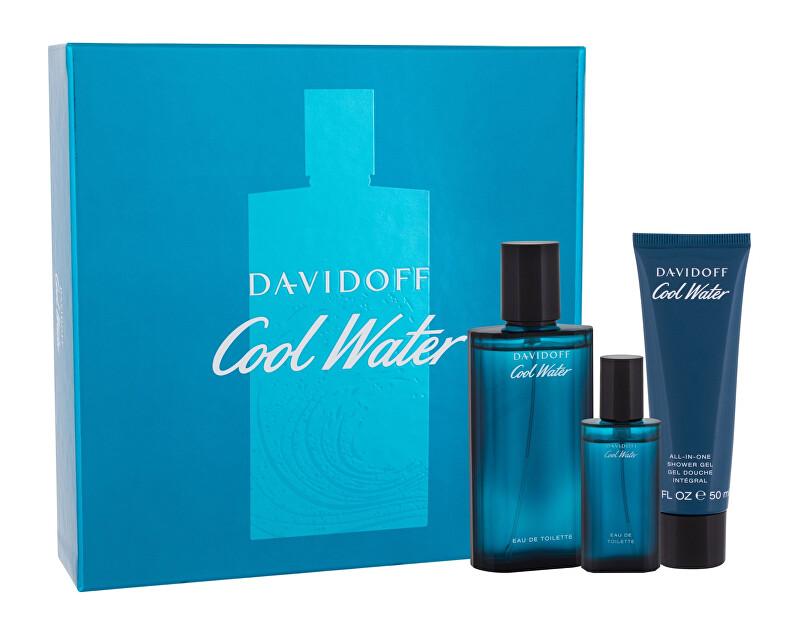 Davidoff Cool Water Man - EDT 75 ml + sprchový gel 50 ml + EDT 15 ml