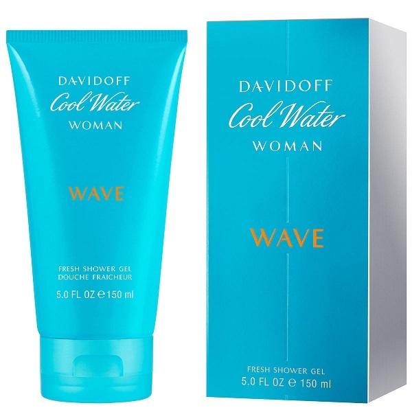 Davidoff Cool Water Wave Woman - sprchový gél 150 ml