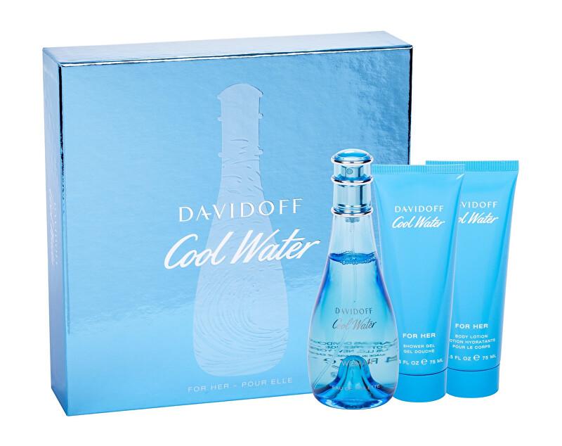 Davidoff Cool Water Woman Spring Edition - EDT 100 ml + tělové mléko 75 ml + sprchový gel 75 ml