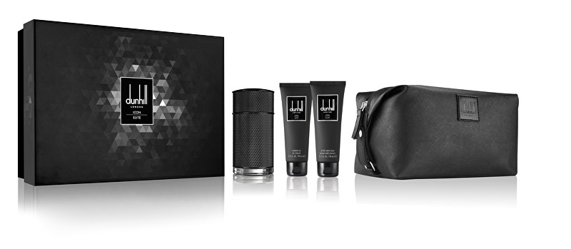 Dunhill Icon Elite - EDP 100 ml + sprchový gél 90 ml + balzam po holení 90 ml + kozmetická taška