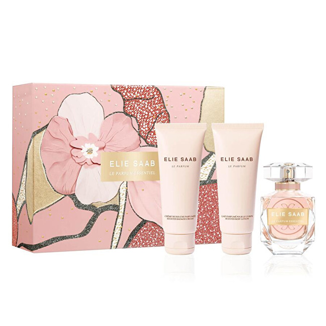 Elie Saab Le Parfum Essentiel - EDP 50 ml + tělové mléko 75 ml + sprchový gel 75 ml