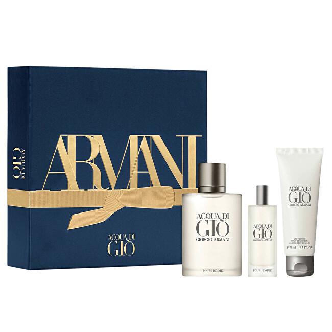 Armani Acqua Di Gio Pour Homme - EDT 100 ml + sprchový gel 75 ml + EDT 15 ml