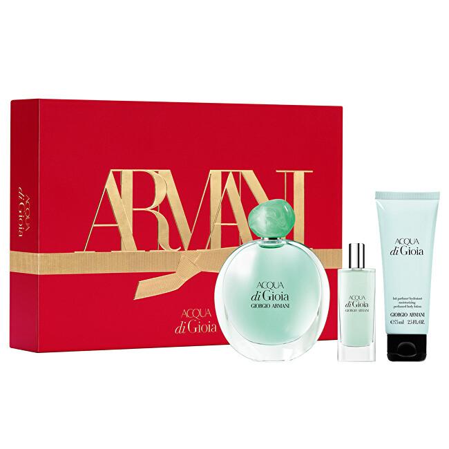 Armani Acqua Di Gioia - EDP 100 ml + tělové mléko 75 ml + EDP 15 ml