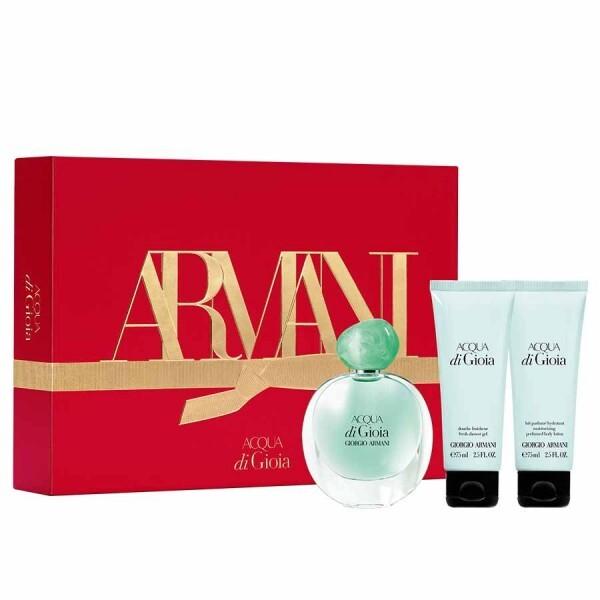 Armani Acqua Di Gioia - EDP 50 ml + telové mlieko 75 ml + sprchový gél 75 ml
