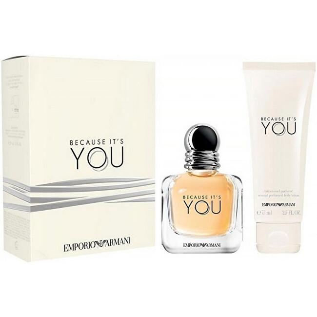 Armani Emporio Armani Because It's You - EDP 50 ml + tělové mléko 75 ml