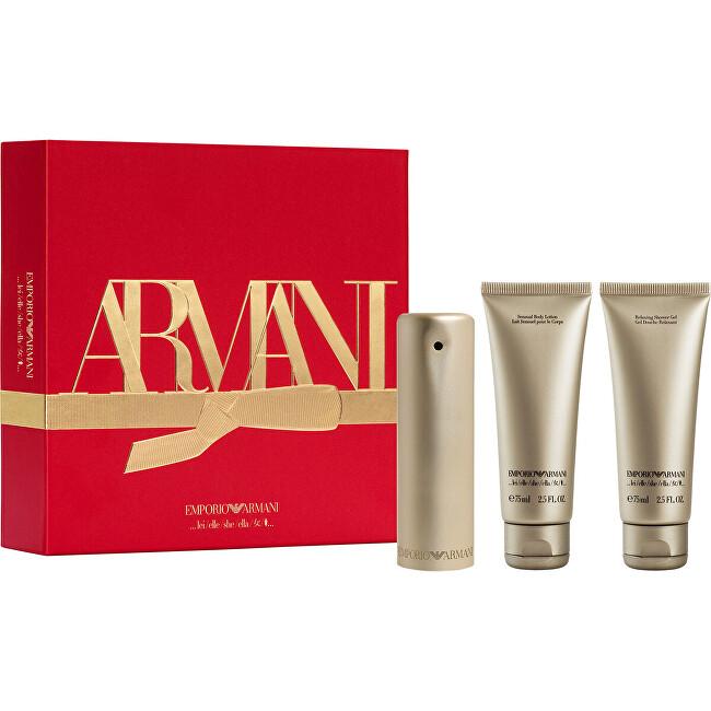 Armani Emporio She - EDP 50 ml + sprchový gel 75 ml + tělové mléko 75 ml