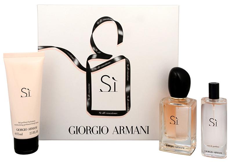 Armani Sì - EDP 50 ml + EDP 15 ml + telové mlieko 75 ml