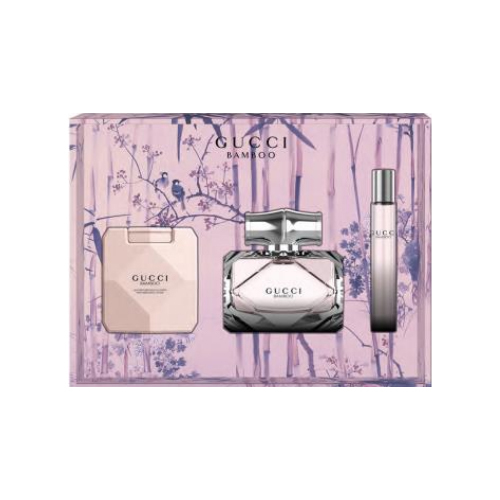 Gucci Gucci Bamboo - EDP 75 ml + tělové mléko 100 ml + roll-on 7,4 ml