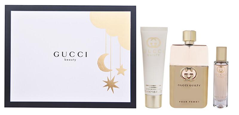 Gucci Guilty Pour Femme Eau de Parfum - EDP 90 + telové mlieko 50 ml + EDP 15 ml