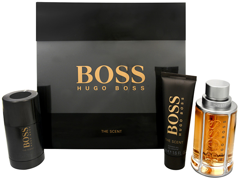 Hugo Boss Boss The Scent - EDT 100 ml + tuhý deodorant 75 ml + sprchový gel 50 ml
