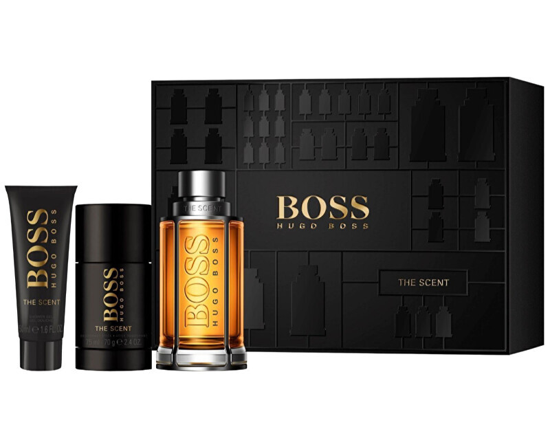 Hugo Boss Boss The Scent - EDT 100 ml + tuhý dezodorant 75 ml + sprchový gél 50 ml