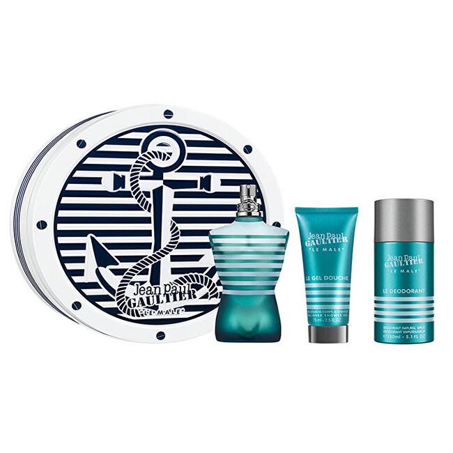 Jean P. Gaultier Le Male - EDT 125 ml + sprchový gel 75 ml + deodorant ve spreji 150 ml